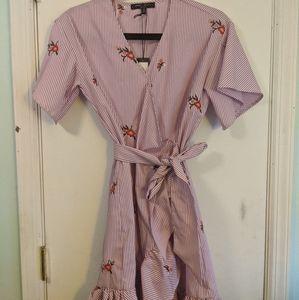 Trendy ruffle wrap dress SM